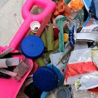 A pile of plastic marine debris.