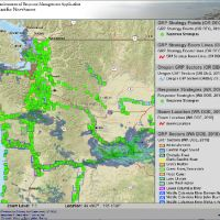 ERMA map of Pacific Northwest region.