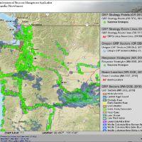 ERMA map of Pacific Northwest region.