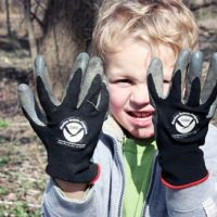 Photo of boy with gloves.