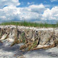 Eroding sand dunes