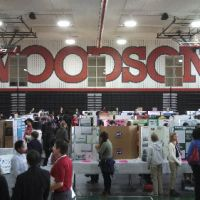 Photo of people at the District of Columbia STEM Fair.