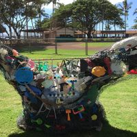 Sculpture made of marine debris.