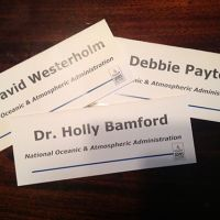 Three nametags.