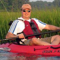 Man in kayak.