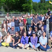 50 members of OR&R's Emergency Response Division pose outside on a dock.