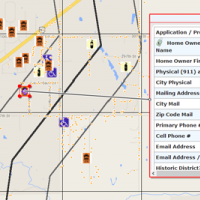 Screenshot showing close-up of grid zones and symbols on MARPLOT 5 map.