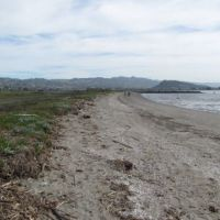 Stretch of Richmond, California, beach.