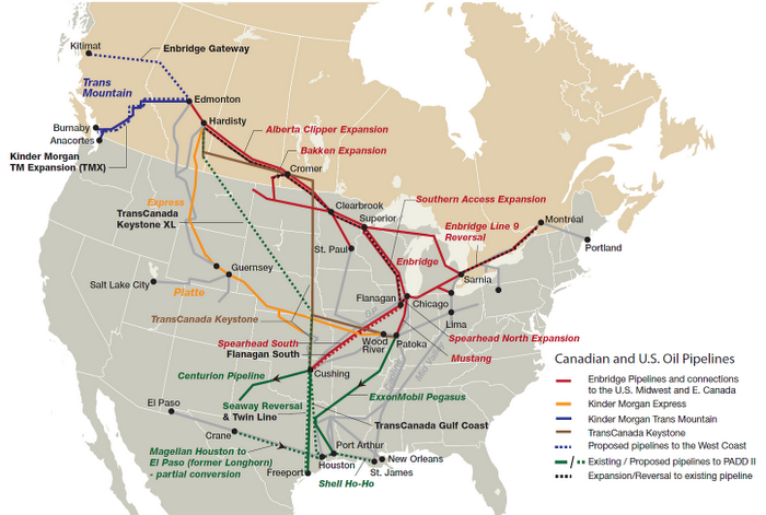 What Are The Increased Risks From Transporting Tar Sands Oil - Pipelines in us map